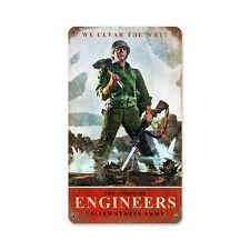 "US Army Corps of Engineers Vintage Style Retro Steel Metal Sign 8"" x 14"""