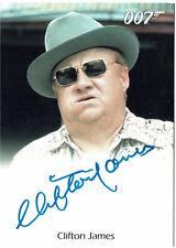 James Bond Autographs & Relics Auto Card Clifton James as Sheriff J.W. Pepper