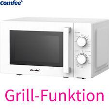 Comfee Kombi Mikrowelle 700W mit Grill 1000W Timer 20 Liter Auftau-Funktion Weiß