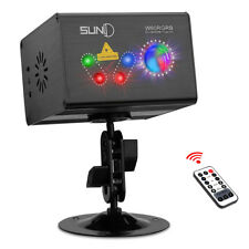 SUNY Laser Light RGRB Gobo Effect Projector Full Color LED Ripple DJ Home Show
