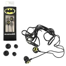 Batman In Ear Headphone Ear Buds Black
