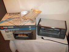Vtg Black & Decker Toast-R-Oven Broiler Classic Chrome TRO-600 In Box
