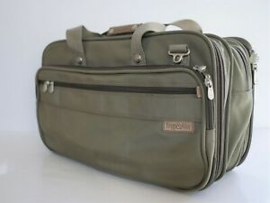 """Briggs & Riley Travelware 20"""" Carry On Duffle Bag Luggage Overnight Olive Green"""