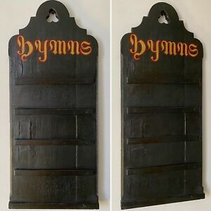 Antique Reclaimed Salvage c1890s Painted Oak Victorian Church Hymn Board
