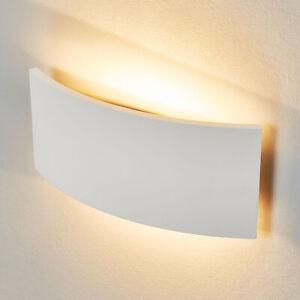 Wandleuchte Naike Gips Optik Zeitlos Schlicht Lampenwelt Licht Wandlampe Flur