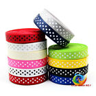 "3/8""(inch) 9mm Polka Dots Printed Grosgrain Ribbon for DIY 12/60/120/1000YARDS"