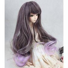 """[wamami]97# Purple Wavy Long Wig For 1/6 Sd Aod Dod Dz Bjd Dollfie 8""""-9"""" inch"""