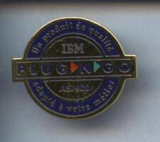 RARE PINS PIN'S ..  INFORMATIQUE PC COMPUTER IBM FRANCE PLUG&GO ¤6C