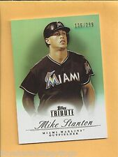 2012 Topps Tribute Mike Giancarlo Stanton Bronze Parallel Serial #136/299