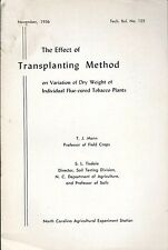 Farm Report - Transplanting Method Effect on Flue-Cured Tobacco Plants (F5578)