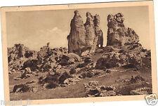 48 - cpa - CAUSSES DES CEVENNES - Chaos du Rajol - Le rocher des Roquesaltes