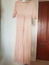 Long Pink summer maxi Shirt dress SZ L