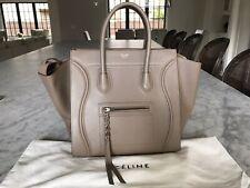 Celine Phantom Medium Luggage Tote Taupe Grained Leather