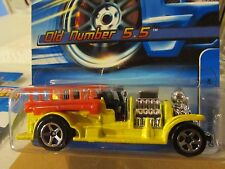 Hot Wheels Old Number 5.5 Fire Truck #191 Yellow