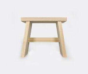 Hinoki Wood Japanese Bath Stool - Onsen Style Shower Sauna Seat