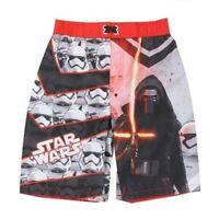 Star Wars Boys Swim Suit Trunks Board Shorts Sizes 4 5/6  7 Black Red New