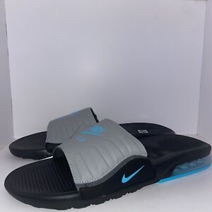 NEW Men's Nike Air Max Camden Slide Sandals Comfort BQ4626 Black Blue Size 13