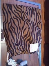 Sunbeam Electric Heated Fleece Warming Throw Brown Zebra Print