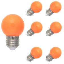 6X E27 Farbig LED Leuchtmittel Birnenform Bunt Tropfenlampe Glühbirnen Orange