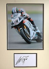LEON HASLAM - SUPERBIKE RIDER - STUNNING SIGNED ACTION PHOTO DISPLAY