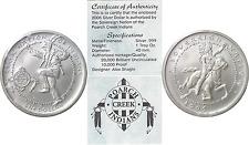 2006 $1 Silver Creek Nation Dancing Warrior 1oz. .999 Fine Uncirculated W/COA