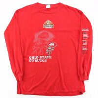 Vintage LEE SPORTS Ohio State Buckeyes Red Sports Long Sleeve T-Shirt Mens XL