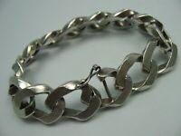 Uno A Erre Italien Schweres langes Designer Armband 925 Silber