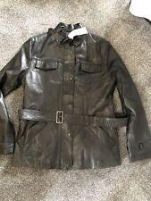 Vintage Lacoste Soft leather jacket medium Fitted Biker Field Jacket Rrp£450