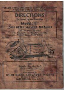"""Vintage John Deere Manure Spreader Model """"E"""" wooden construction"""