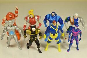 """Lot of 8 2.5-3"""" 1994 Toy Biz Marvel Action Figures METAL X-Men Mutants"""