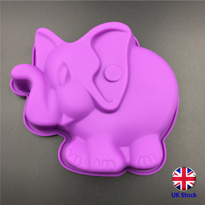 Cute Elephant Shape Silicone Cake Topper Mould - Ideal for Chocolate, Fondant