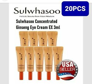 Sulwhasoo Concentrated Ginseng Eye Cream EX 3ml x 20pcs (60ml)