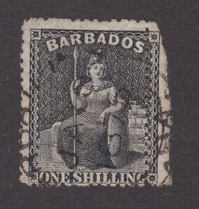 Barbados 1870 Used Definitive Britannia Perforate Large star p14-16 Black SG47