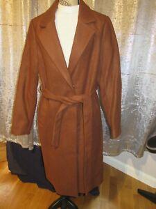 Bnwt NewLook Rust Longline Coat Size14