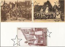 3 CPA - LES GEANTS - BRAINE-LE-COMTE - Baudouin IV et Alix - NEUVE - 2 Photos