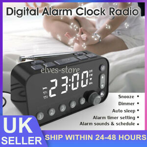 DAB+FM Radio Clock Alarm LED Digital Sleep Bedside Dual Timer Large Size Display