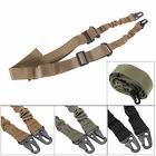 Tactical Two 2 Dual Point Adjustable Bungee Rifle Gun Sling System Strap New