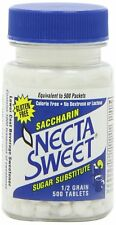 Necta Sweet Sugar Substitute Tablets, 1/2 Grain, 500-Count Bottle (Pack of 12)