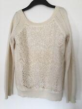 Pull dentelle KOOKAI laine angora sweater -  T. 1 / S / 36