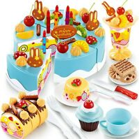 Birthday Cake Toys Fruit Ice Cream Children Home Role Play Gift Toy 75PCS Set