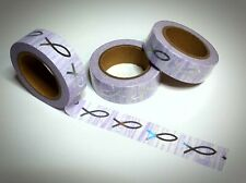 Washi Tape Sample 15mm x 1m Rosa Glitzer Holo Fisch Marmor marmoriert Nr.2