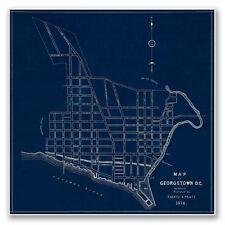 Blueprint MAP of GEORGETOWN, Washington DC circa 1874 Vintage Style Print 24x24