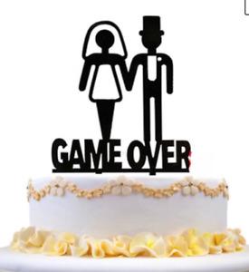 Game Over wedding cake topper gamer wedding