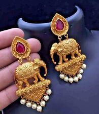 22k Gold Plated Indian Bollywood Vintage Ethnic Bridal Fashion Jhumka Earrings 1