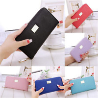 Fashion Women Leather Long Purse Ladies Clutch Coin Phone Bag Wallet Card Holder