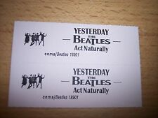 """2 Beatles Yesterday / Act Naturally Jukebox Title Strip Cd 7"""" 45Rpm Records"""