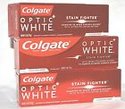 3 COLGATE OPTIC WHITE STAIN FIGHTER CLEAN MINT PASTE FLUORIDE TOOTHPASTE 4.2 OZ