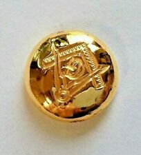 2.5g GOLD .9999 FreeMason hand poured gold bar 99.99%. Pure solid gold round