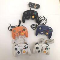 Lot Of 5 Nintendo Gamecube Unofficial/GameStop Controllers - Read Description