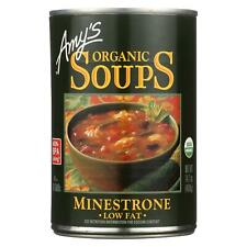 Amy's Organic Low Fat Minestrone Soup 14 oz ( Pack of 12 )